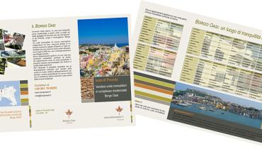 Borgo Oasi: leaflet a 3 ante